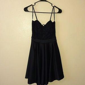 Size medium black party dress from papaya